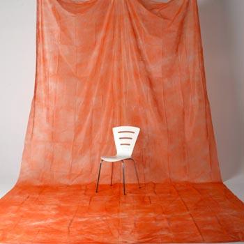 透過型ペーパームラバック 07 オレンジ(3×6m)