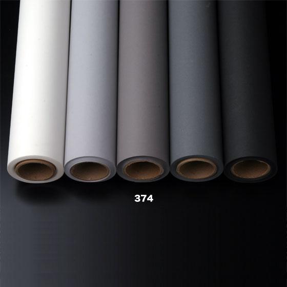 撮影用背景紙 2.7×11mロールバック紙 (374 スモークグレイ(グレー/灰色)/巻芯・梱包付)