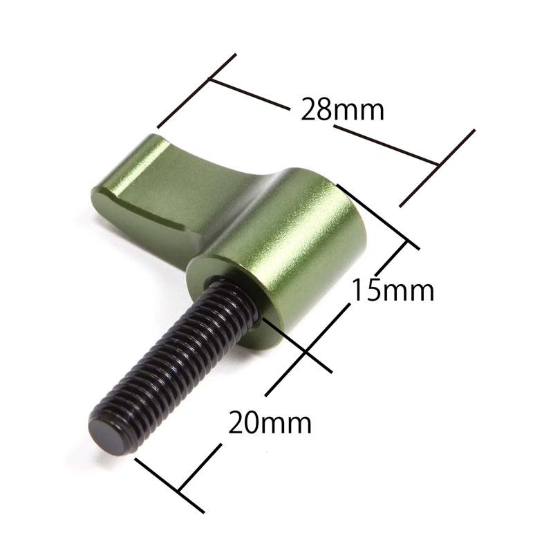 ノブボルトM6×20mmグリーン(2個1組)