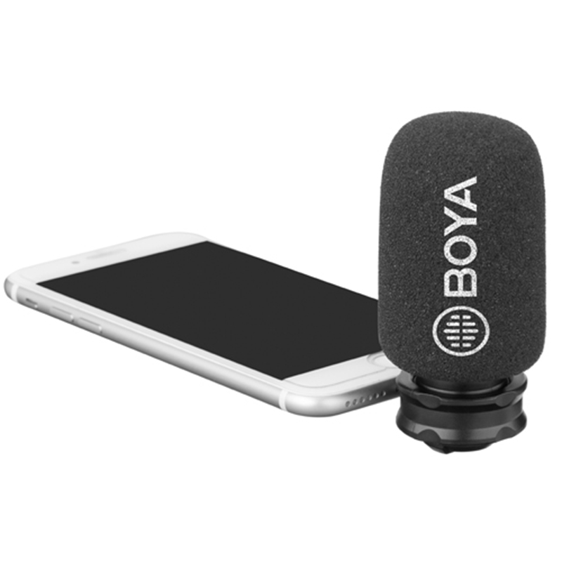 BOYA iPhone / iPad用プラグインマイク(ライトニング端子)