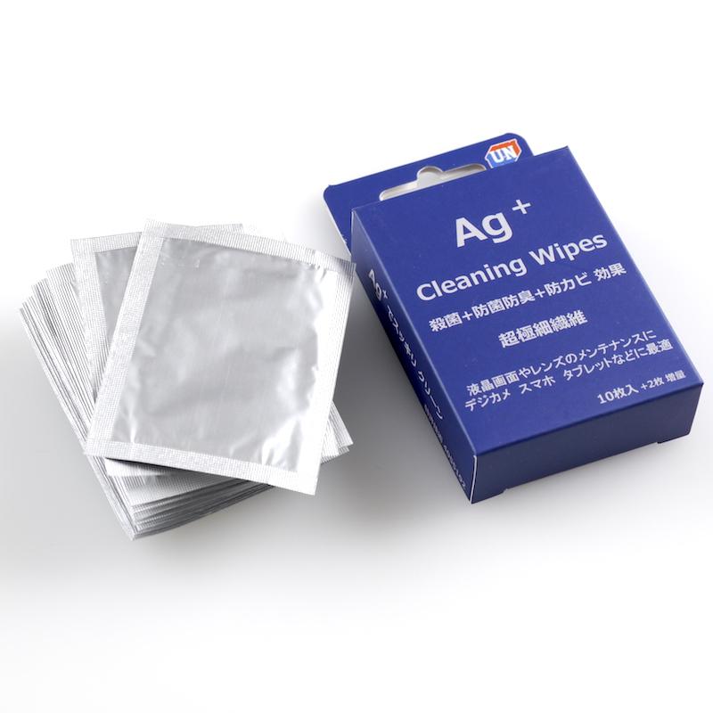 ユーエヌ AG+ クリーニングワイプ