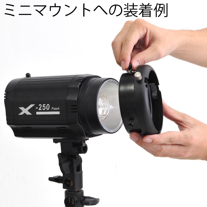 ストロボマウントアダプター(ミニマウント系→ボーエンズS)
