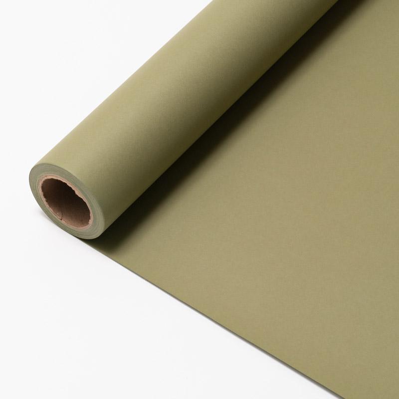 撮影用背景紙 2.7×11mロールバック紙 (334 オリーブグリーン/巻芯・梱包付)