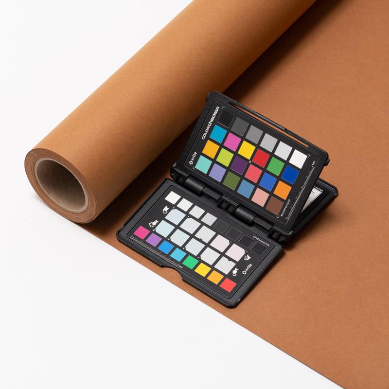 撮影用背景 1.8×11mロールバック紙 (380 ココア(茶色)/巻芯・梱包付)