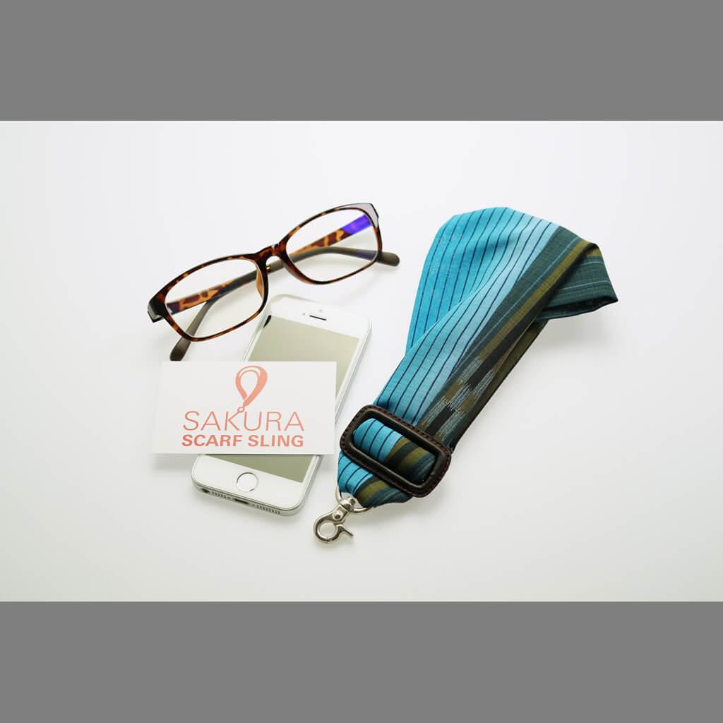 《販売終了》SAKURAスカーフスリングミニ_沖縄限定バージョン「ウミカジ(海風)」