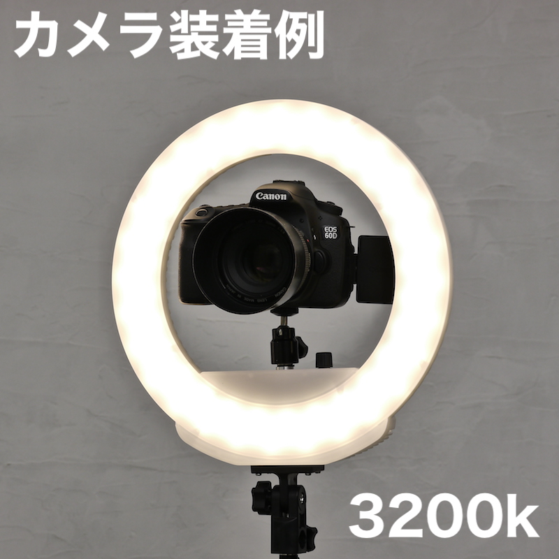 リングライトバッテリータイプS(ブラック)_KR-12B