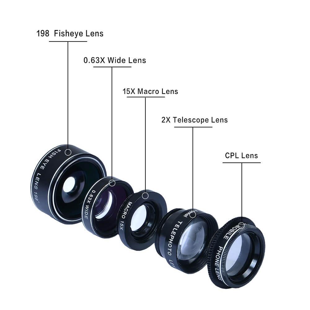 《販売終了》スマホ用5点カメラレンズキット