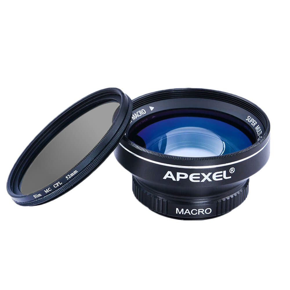 《販売終了》スマホ用マクロ+広角レンズ+偏光フィルター