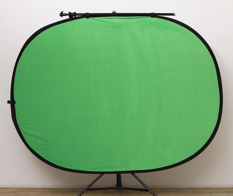 リバーシブル折り畳み背景1.5×2m グリーン×ブラック