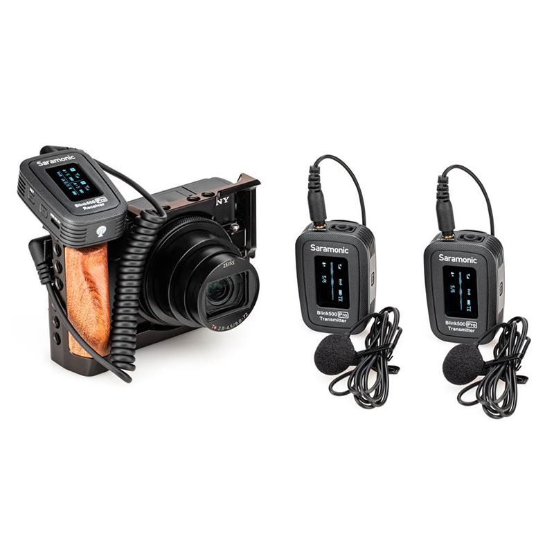 Saramonic Blink 500 Pro 2.4GHzワイヤレスラベリアマイクセット(マイク2本+レシーバー1台)技適認証済
