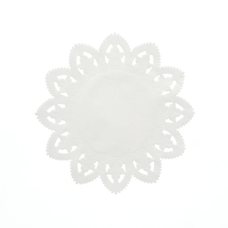 レースペーパー 丸型 7号 白 SWAN 1袋(100枚入り)