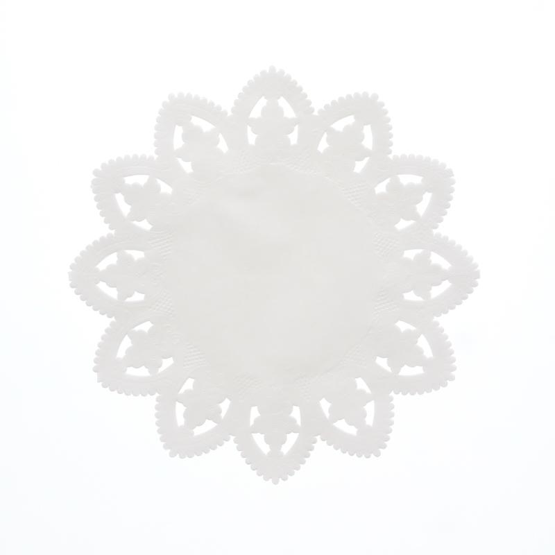レースペーパー 丸型 8号 白 SWAN 1袋(100枚入り)
