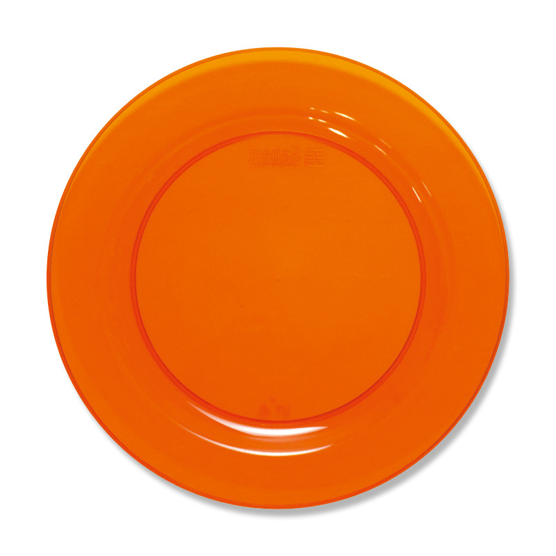 食品皿 ラウンドプレート MZPL19OR オレンジ 10枚