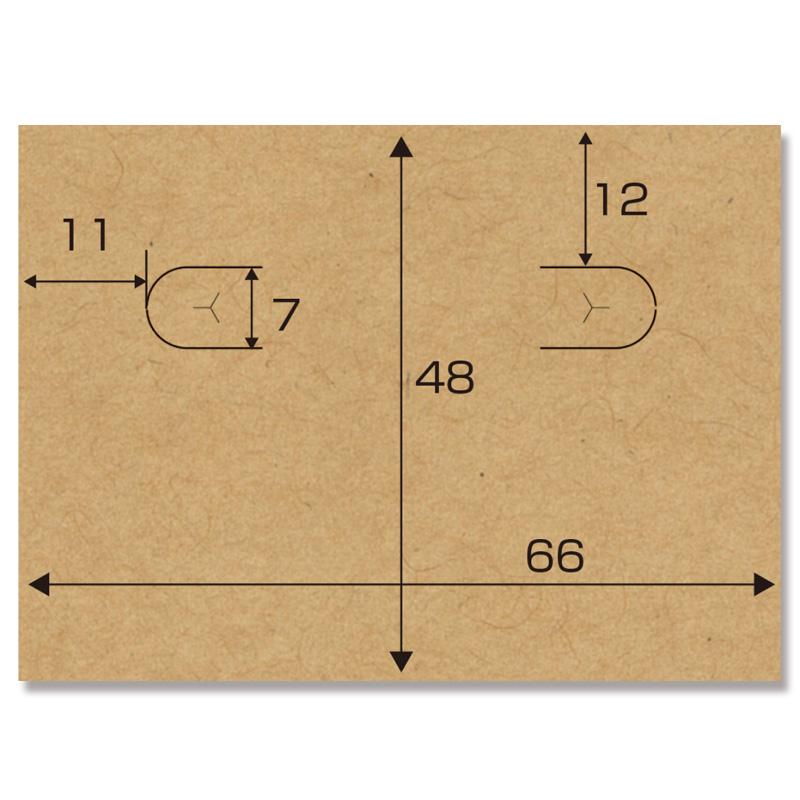 OA対応ピアス台紙 Lサイズ クラフト ササガワ 44-7602 15シート(1シート8枚付)