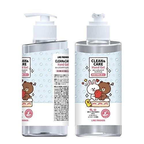 ハンドジェル 除菌 消毒 Line Friends 公式グッズ クリーンアンドケア ハンドジェル500ml CLEAN&CARE HANDGELアルコール 70% ビタミンE 衛生 ウイルス対策