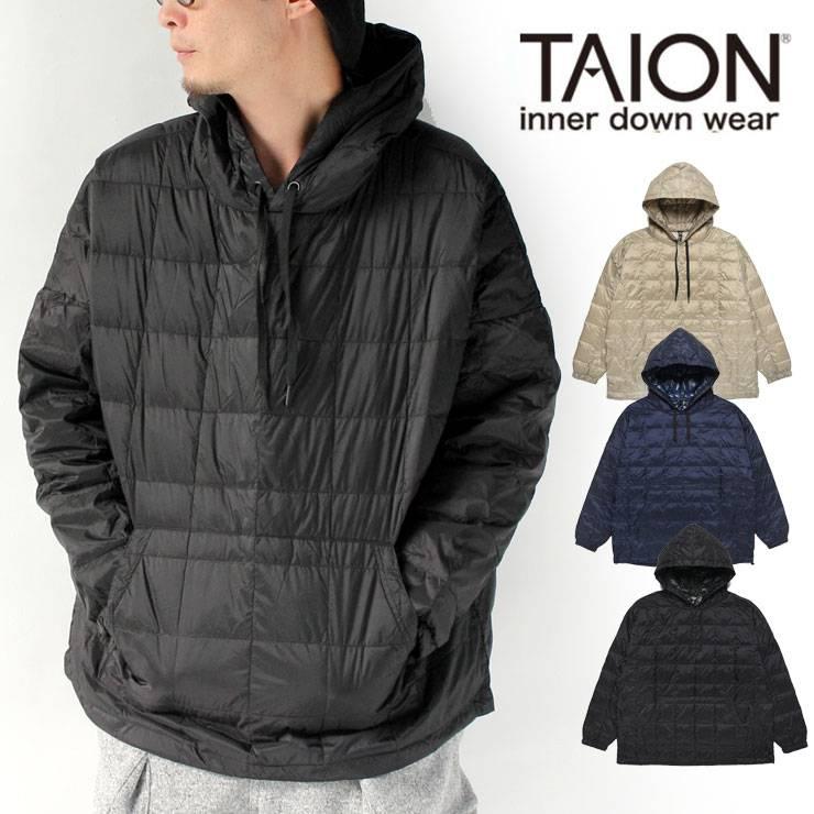TAION タイオン オーバーサイズダウンパーカー TAION-106OS /ダウン メンズ ユニセックス レディース 秋 冬 秋冬 軽量 キャンプ フェス ファッション ブランド