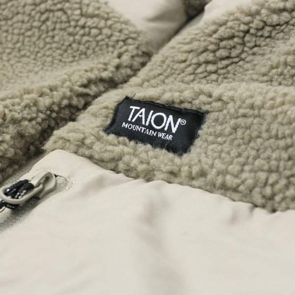 TAION タイオン ダウン × ボア リバーシブル ダウンベスト TAION-R002MB /インナーダウン ユニセックス レディース 秋 冬 秋冬 軽量 キャンプ