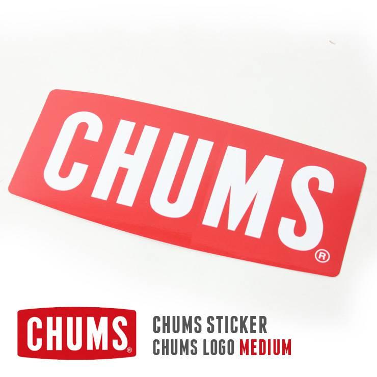 CHUMS チャムス ロゴミディアム ステッカー  CH62-1071 シール ボートロゴ