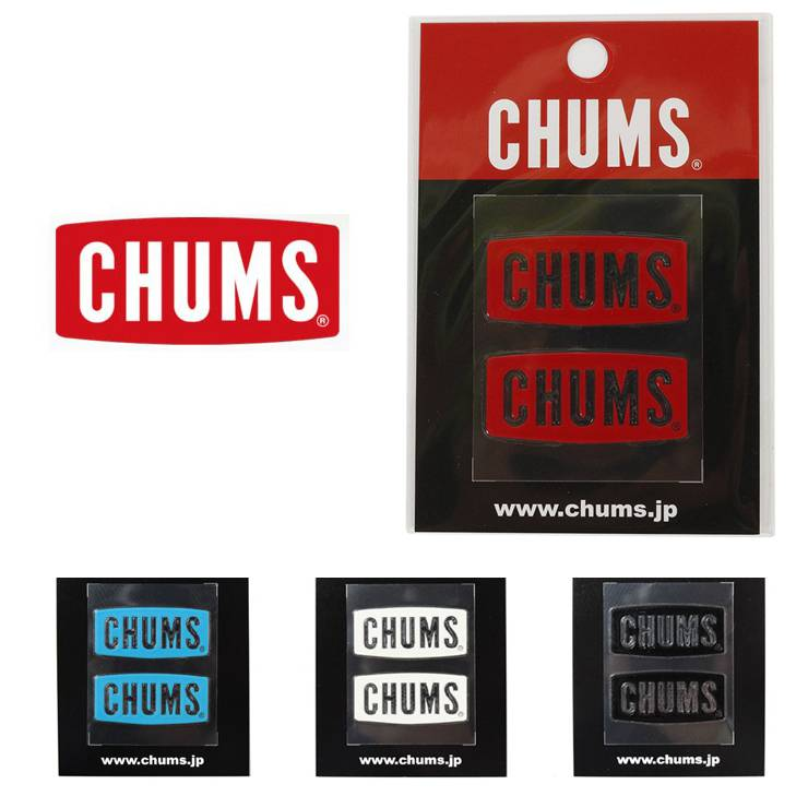 CHUMS チャムス CHUMS Logo Emboss Sticker CH62-1125