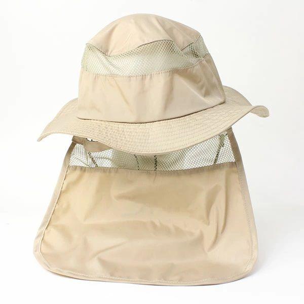 【送料無料】 ウォーターリペレント サンシェードサファリハット アウトドア キャンプ メンズ レディース