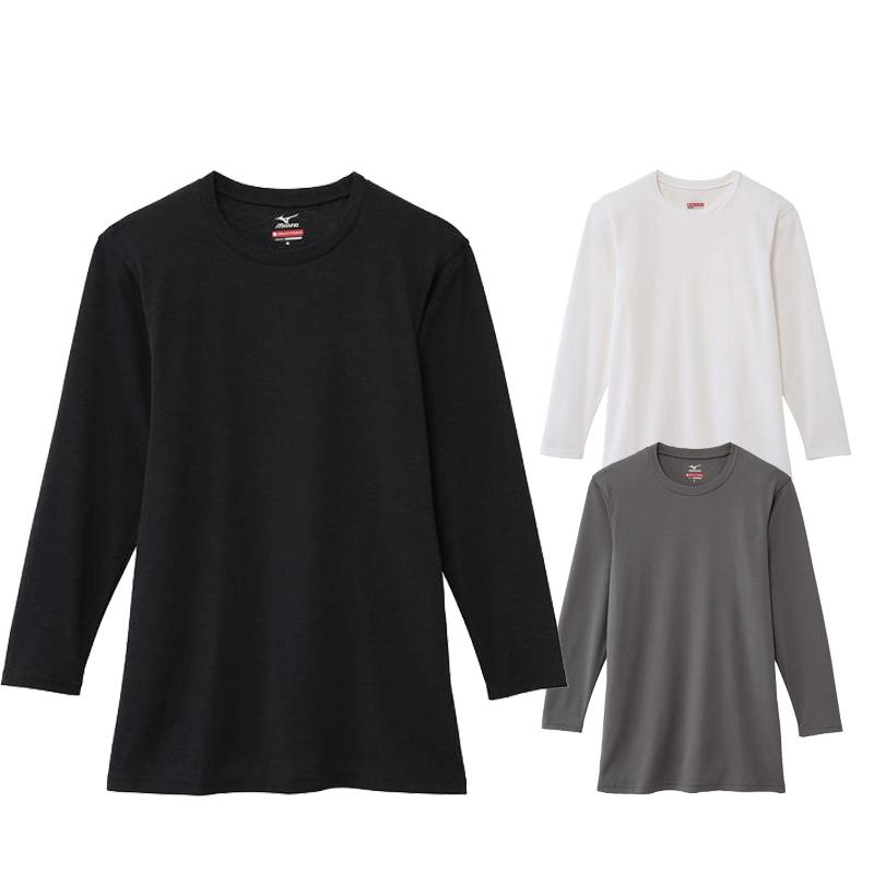 【完売】ミズノ(MIZUNO) C2JA5606 ブレスサーモエブリ クルーネック長袖シャツ
