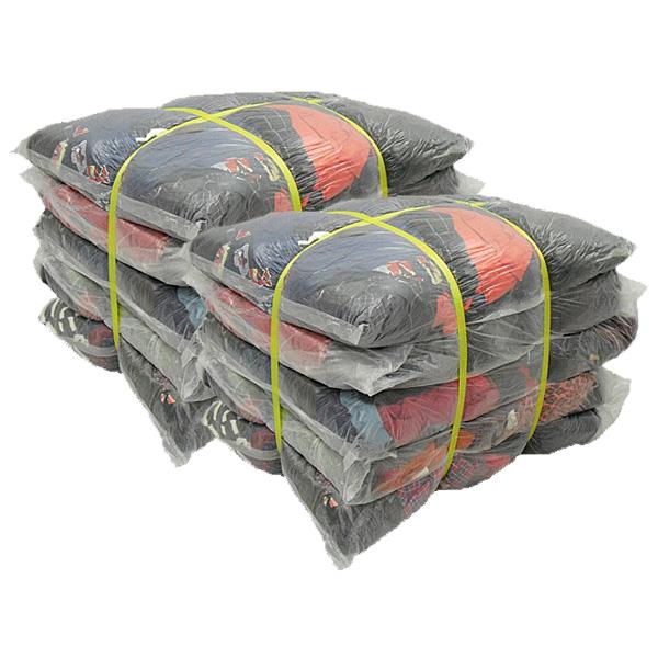 濃色綿ウエス(五色) 40kg梱包(4kg×5袋×2梱包)