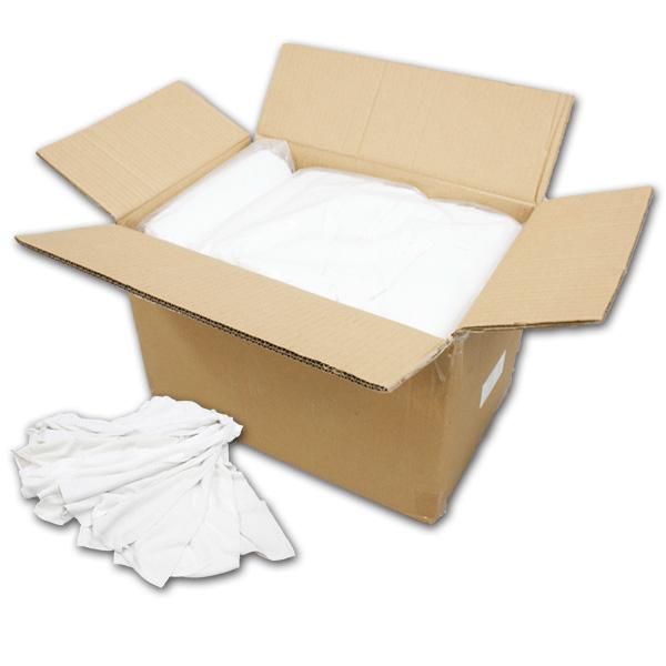 白タオルウエス(洗濯済み,リサイクル生地) 10kg/箱[2kg×5袋]