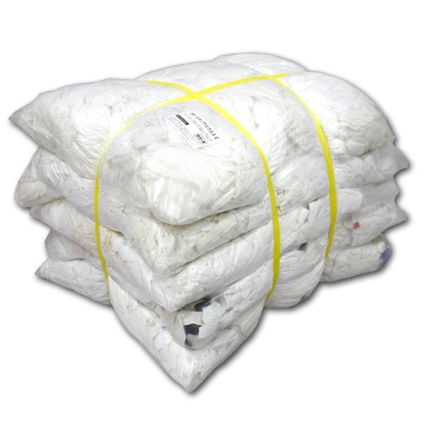 白メリヤスウエスエコノミー(リサイクル生地) 20kg梱包/4kg×5袋