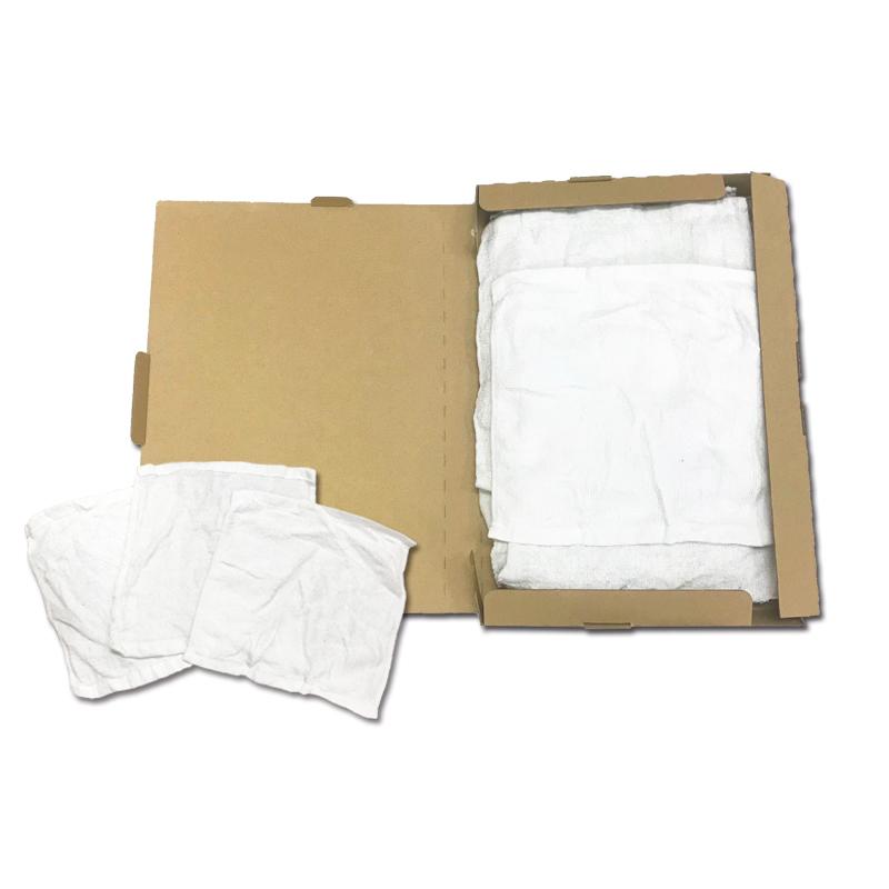白おしぼり風(小)ウエス(リサイクル生地)約400〜500g 【お試しサイズ/代引不可】