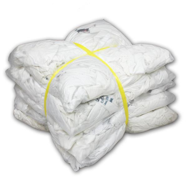 白色厚メリヤスウエス(リサイクル生地) 10kg梱包/2kg×5袋