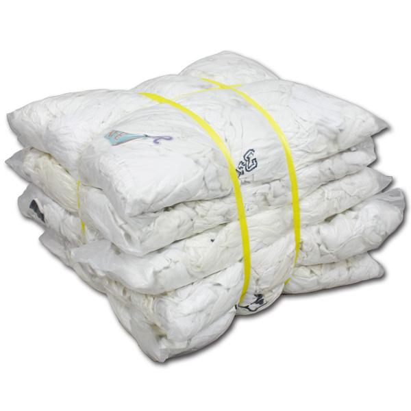 白色厚メリヤスウエス(リサイクル生地) 20kg梱包/4kg×5袋
