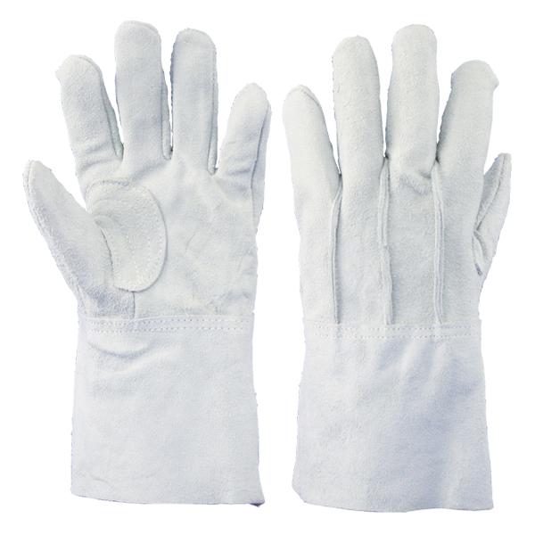 牛床革背縫中袖:8702-5 10双/袋 作業用手袋 溶接