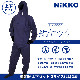 HK-5061 ネイビー塗装服  胸中央ポケット付 Oサイズ(LLサイズ) 上下セット 1着