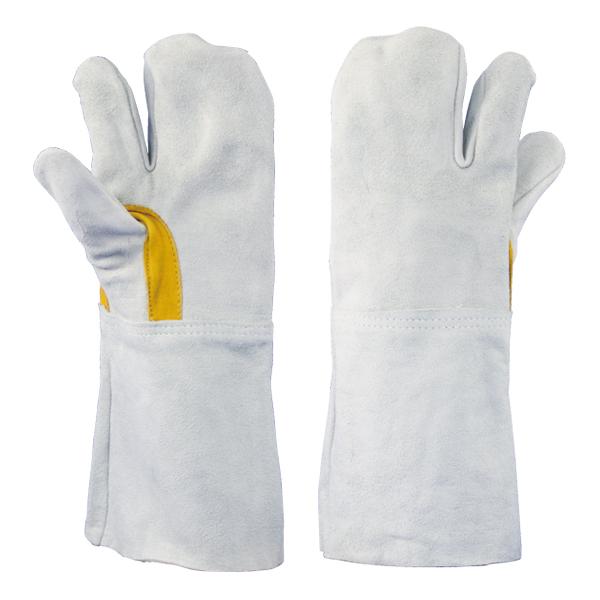 牛床革手袋 吟当付 3本指 溶接 8301-7Y 1双単品