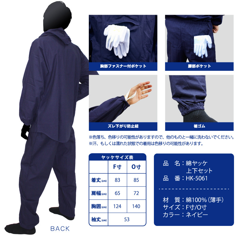 HK-5061 ネイビー塗装服  胸中央ポケット付 Oサイズ(LLサイズ) 上下セット 30着/箱