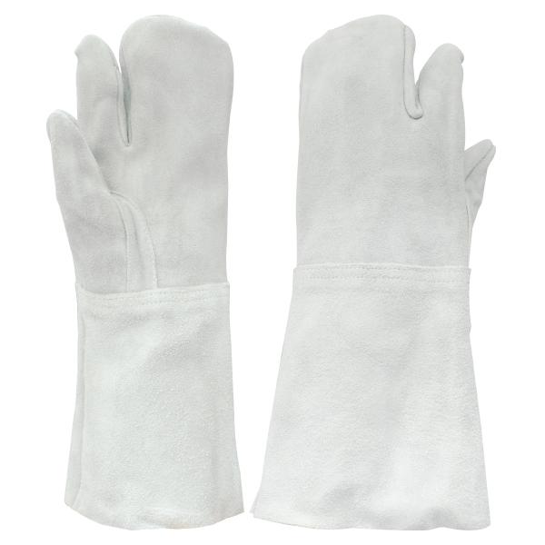 牛床革手袋 3本指 溶接 8301-7 10双/袋 長タイプ