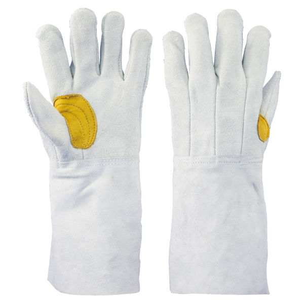 牛床革手袋 背縫:8711-7Y 吟当て付き 10双/袋 長タイプ