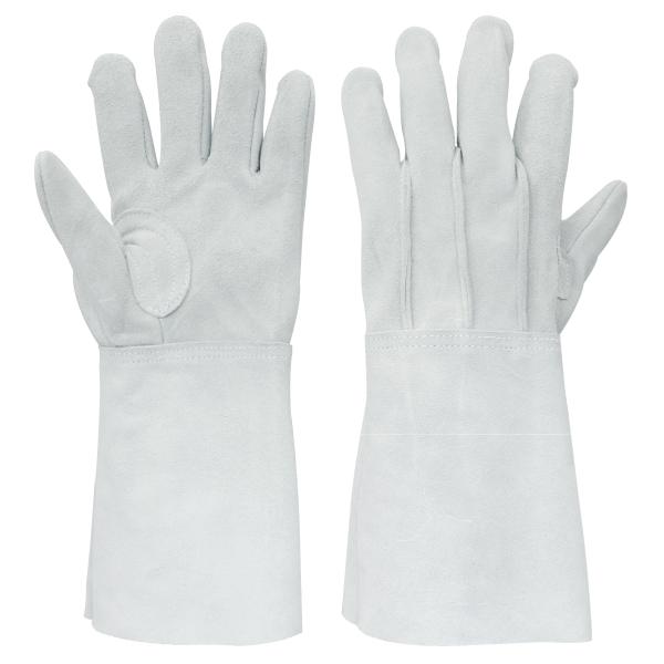 牛床革溶接手袋 背縫:8701-7 10双/袋 長タイプ