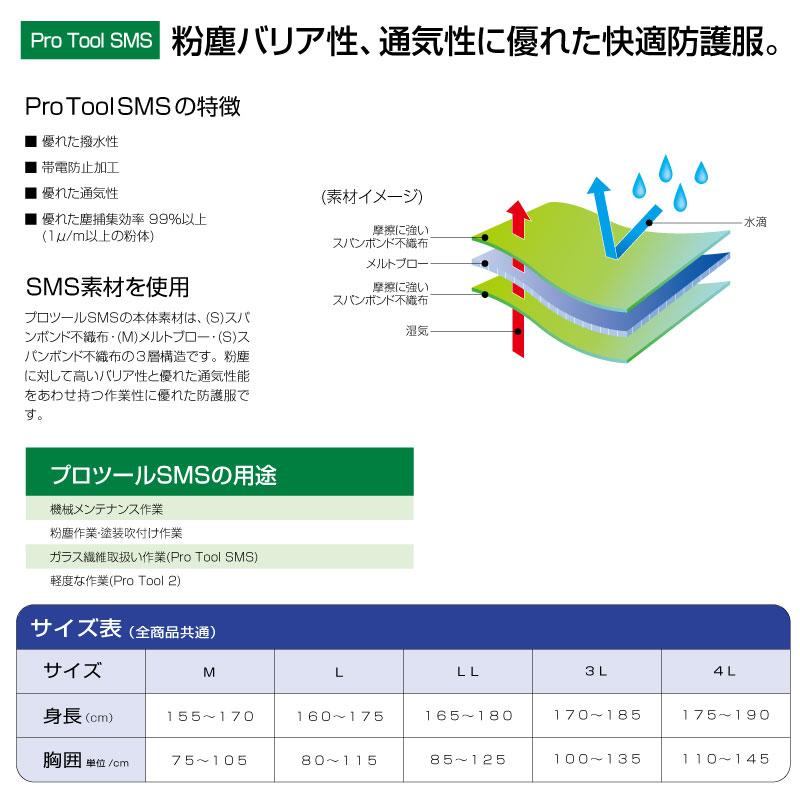 プロツール2 続き服 防護服 50着/箱