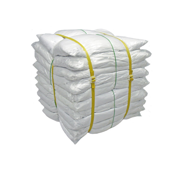 白メリヤスウエス(新品生地)縫目有 20kg梱包/2kg×10袋