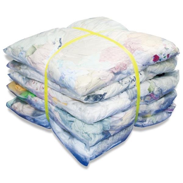 淡色メリヤスウエス(リサイクル生地) 10kg梱包 [簡易包装]