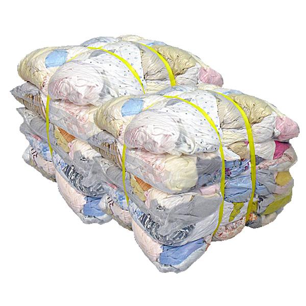 淡色メリヤスウエス(リサイクル生地) 40kg梱包(4kg×5袋×2梱包)