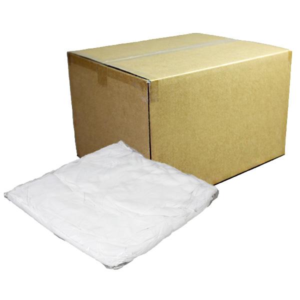 定型白メリヤスウエス(新品生地)縫目無10kg/箱[1kg×10袋]
