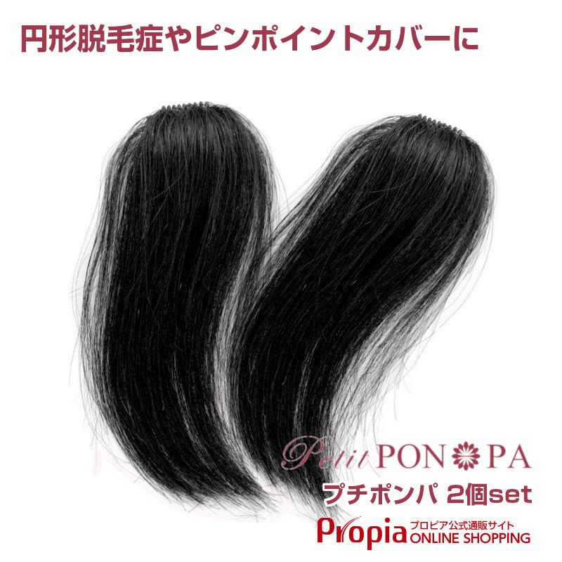 【ちょっとお得な2個セット】極小部分ウィッグ 円形脱毛症にも Petit PON-PA(プチポンパ)
