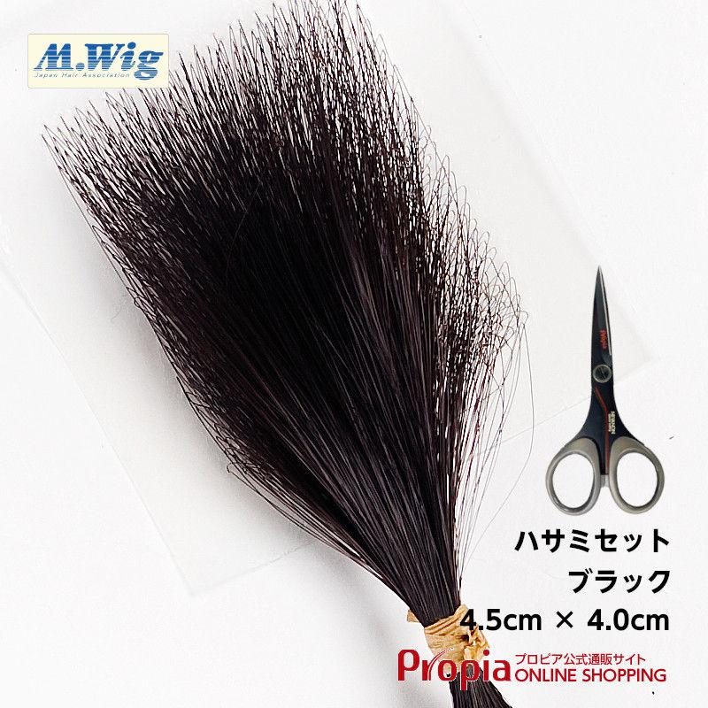 円形脱毛対策 ヘアコンタクトメディカル(ブラック) + ハサミセット