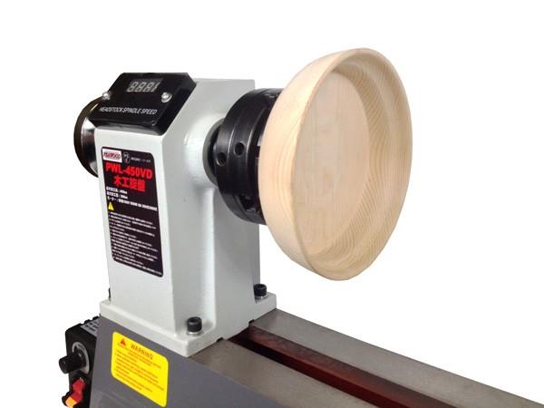 ピーウッド 木工旋盤 PWL-450VD スクロールチャックセットA
