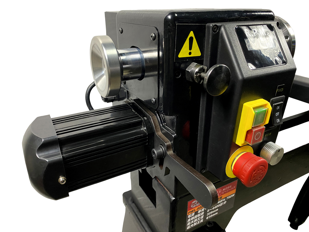 ピーウッド 木工旋盤 PWL-600VDI  ロングワーススタイルチャックセット(インバータ無段変速)