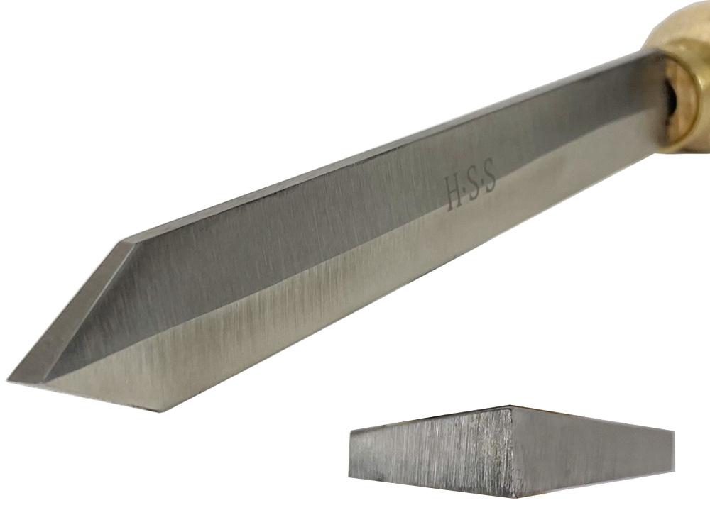 ピーウッド 木工旋盤用バイト ダイヤモンドパーティングツール 19.6mm×4.7mm