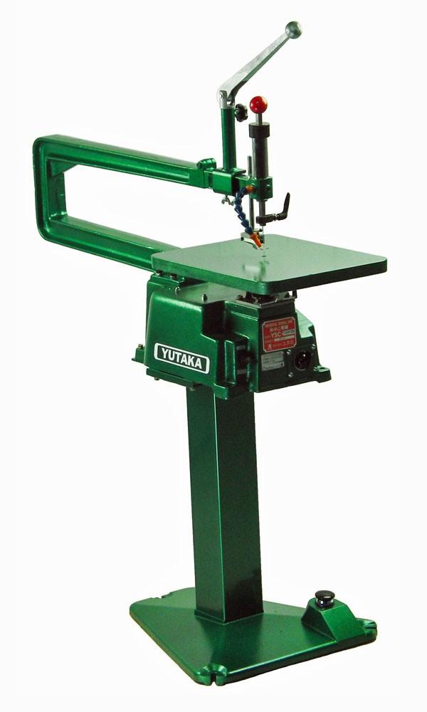 ユタカ スタンド付木工糸のこ盤(鋳物定盤、フトコロ720mm、Hybrid集塵無しタイプ) YSC-720FSNV