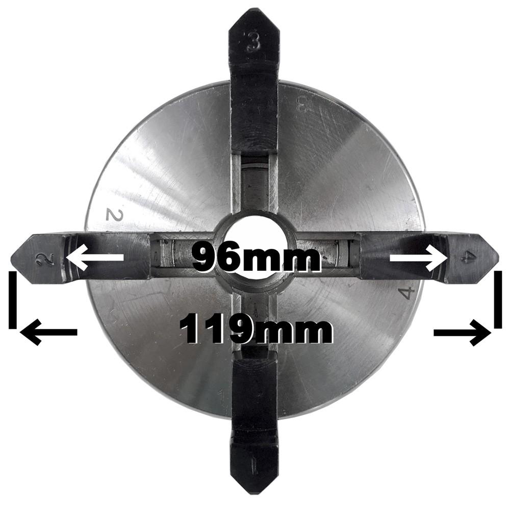 ピーウッド 4爪スクロールチャック(丸棒、角材向き)